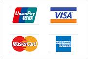 銀聯(China UnionPay)、VISA、MasterCard、American Express標準対応