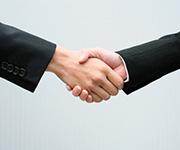 CCM 業務提携のご案内 握手